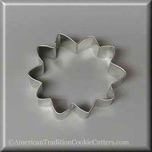 "3"" Sunflower Metal Cookie Cutters - American Tradition Cookie Cutters"