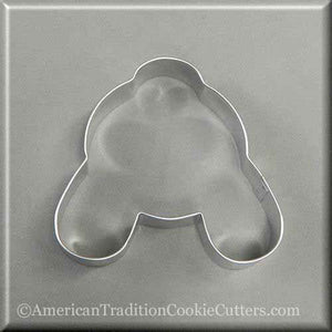 "4"" Easter Bunny Rabbit Butt Metal Cookie Cutter"