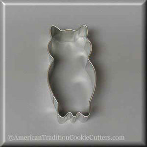 "3.25"" Owl Metal Cookie Cutter-americantraditioncookiecutters"