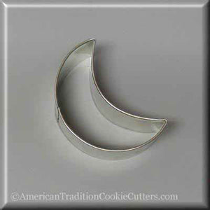 "3"" Crescent Moon Metal Cookie Cutter - American Tradition Cookie Cutters"