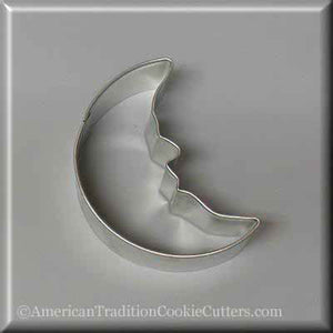 "3"" Man in the Moon Metal Cookie Cutter - American Tradition Cookie Cutters"