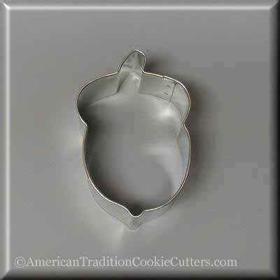 "3 ""Cutter Cookie Metal Acorn - Αμερικανική Cut Cut Cookie"