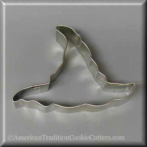 "4"" Witch's Hat Metal Cookie Cutter-americantraditioncookiecutters"