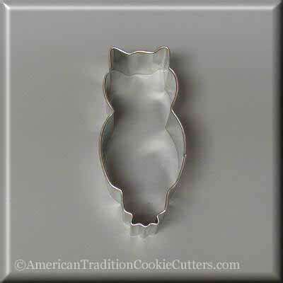 "3.25"" Owl Metal Cookie Cutter - American Tradition Cookie Cutters"