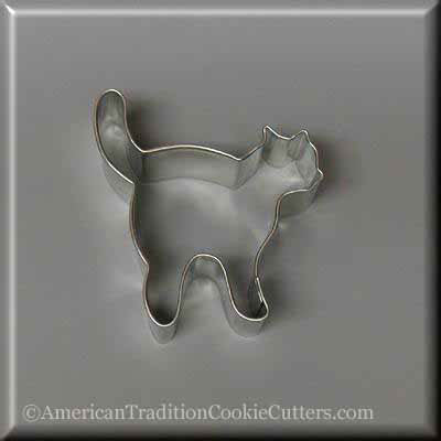 "3"" Witch's Cat Metal Cookie Cutter"