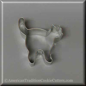 "3"" Witch's Cat Metal Cookie Cutter - American Tradition Cookie Cutters"