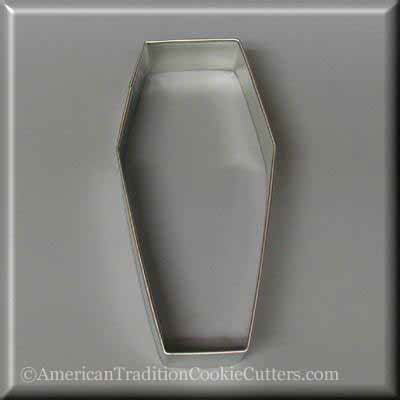 "4"" Coffin Metal Cookie Cutter"