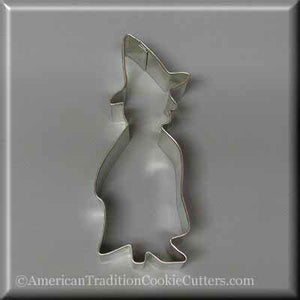 "5"" Standing Witch Metal Cookie Cutter-americantraditioncookiecutters"