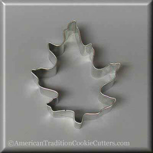 "3.5"" Oak Leaf Metal Cookie Cutter - American Tradition Cookie Cutters"