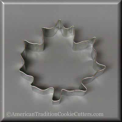"3.5 ""Maple Leaf Metal Cookie Cutter - American Tradition Cookie Cutters"
