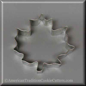 "3.5"" Maple Leaf Metal Cookie Cutter - American Tradition Cookie Cutters"