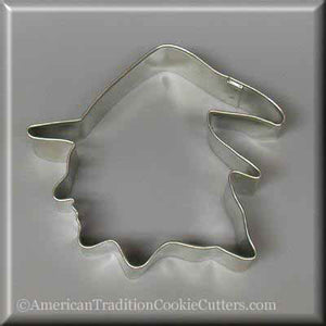 "4"" Witch Head Metal Cookie Cutter-americantraditioncookiecutters"