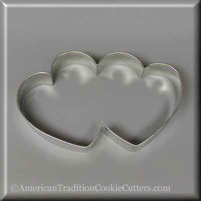 "5 ""Double Heart Metal Cookie Cutter-amerikaanse traditionele kokersnijders"