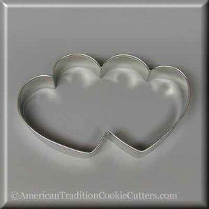 "5"" Double Heart Metal Cookie Cutter-americantraditioncookiecutters"