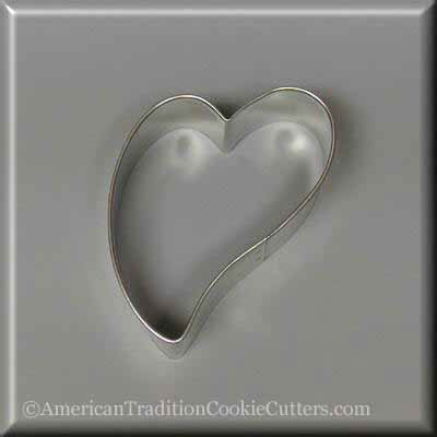 "3"" Folk Heart Metal Cookie Cutter - American Tradition Cookie Cutters"