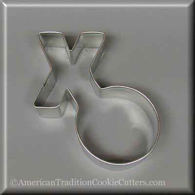 "4"" Hugs and Kisses Metal Cookie Cutter"