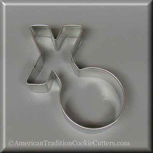 "4"" Hugs and Kisses Metal Cookie Cutter-americantraditioncookiecutters"