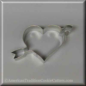 "4.75"" Heart with Arrow Metal Cookie Cutter-americantraditioncookiecutters"