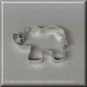 "3"" Elephant Metal Cookie Cutter - American Tradition Cookie Cutters"