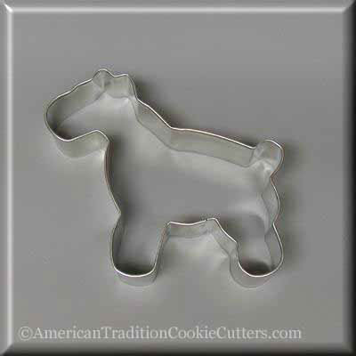 "4.75"" Schnauzer Metal Cookie Cutter-americantraditioncookiecutters"