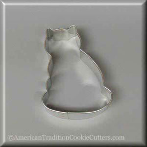 "3"" Pussy Cat Metal Cookie Cutter"