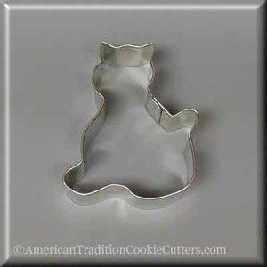 "3"" Kitten Metal Cookie Cutter - American Tradition Cookie Cutters"