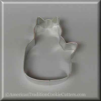 "3"" Quilting Cat Metal Cookie Cutter - American Tradition Cookie Cutters"