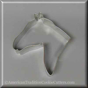 "4.5"" Horse Head Metal Cookie Cutter-americantraditioncookiecutters"