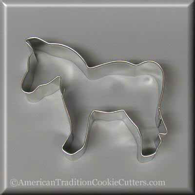 "4"" Horse Metal Cookie Cutter-americantraditioncookiecutters"