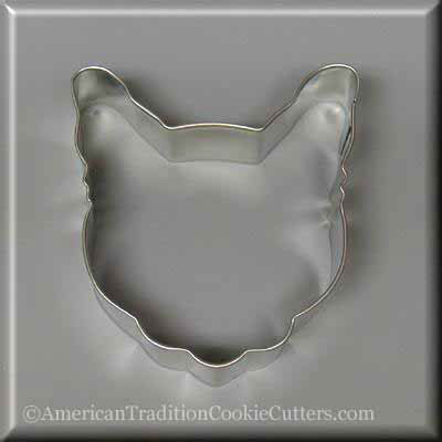 "3.5"" Cat Head Metal Cookie Cutter"