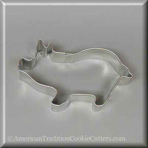 "3.75"" Pig Metal Cookie Cutter - American Tradition Cookie Cutters"