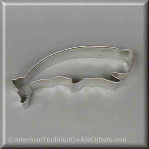"4"" Jumping Whale Metal Cookie Cutter"