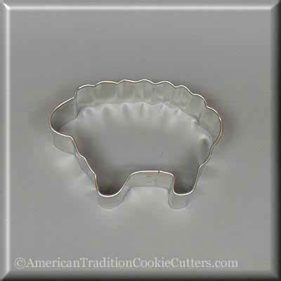 "3"" Woolly Lamb Metal Cookie Cutter - American Tradition Cookie Cutters"