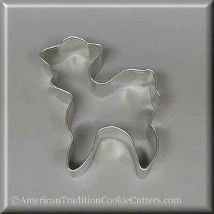 "3.25"" Standing Lamb Metal Cookie Cutter - American Tradition Cookie Cutters"