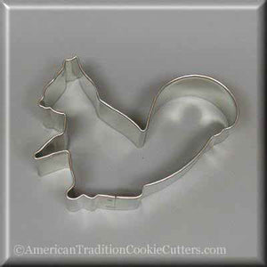 "3"" Squirrel Metal Cookie Cutter - American Tradition Cookie Cutters"