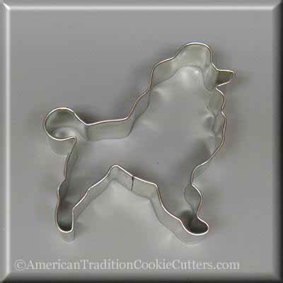 "4 ""Poodle Metal Cookie Cutter-americantraditioncookiecutters"