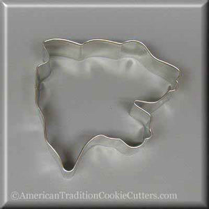 "3.5"" Panther Head Metal Cookie Cutter"