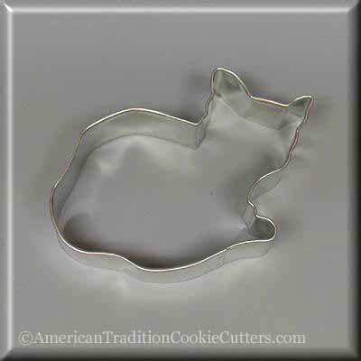 "4"" Cat Metal Cookie Cutter-americantraditioncookiecutters"