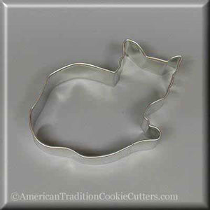"4"" Cat Metal Cookie Cutter - American Tradition Cookie Cutters"