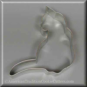 "4.5"" Cat Metal Cookie Cutter-americantraditioncookiecutters"