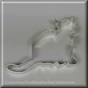 "5"" Cat Metal Cookie Cutter-americantraditioncookiecutters"