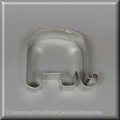 "3.25"" Elephant Metal Cookie Cutter-americantraditioncookiecutters"