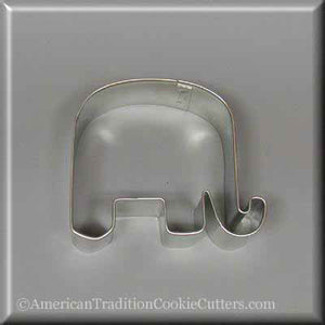 "3.25"" Elephant Metal Cookie Cutter - American Tradition Cookie Cutters"