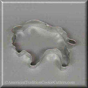 "4"" Buffalo Metal Cookie Cutter - American Tradition Cookie Cutters"
