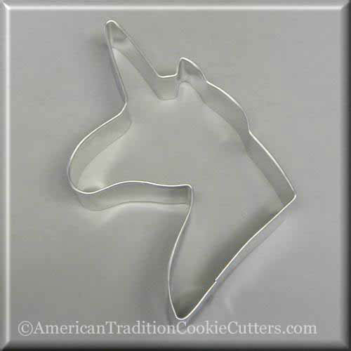 "5"" Unicorn Metal Cookie Cutter-americantraditioncookiecutters"