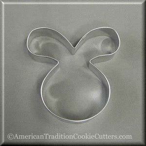 "4"" Easter Bunny Rabbit Face Metal Cookie Cutter-americantraditioncookiecutters"