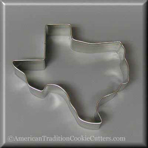 "3.5"" Texas Metal Cookie Cutter"