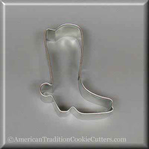 "3"" Cowboy Boot Metal Cookie Cutter - American Tradition Cookie Cutters"