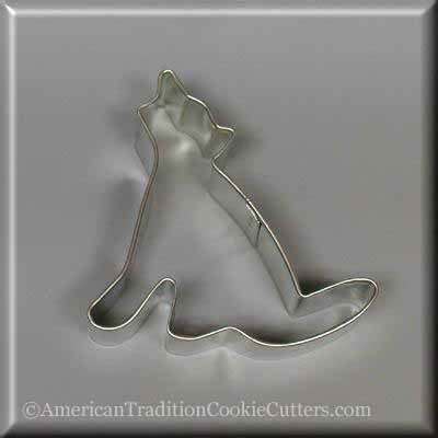"3"" Coyote Metal Cookie Cutter - American Tradition Cookie Cutters"