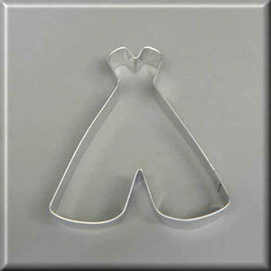 "4"" Teepee Metal Cookie Cutter-americantraditioncookiecutters"